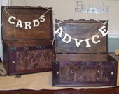 Rustic Wedding Cards and Advice Boxes Set of 2