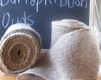 "Burlap Ribbon 5"" Wide-Chair Sash-Burlap Bows-Christmas Decor-5 yds"