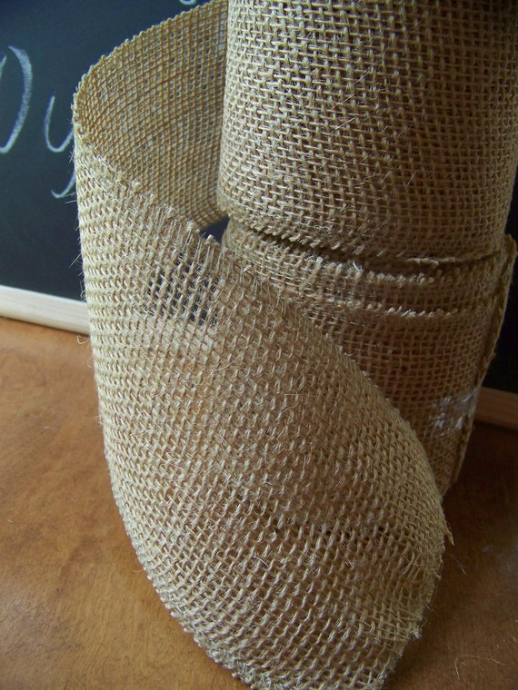 Burlap Ribbon 10 yds for Rustic Bows-Chair Ties-Wedding Decoration