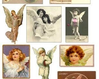 Angels Fairies Images Digital Collage Sheet Download GreatMusings No.103