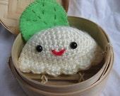 Tiny Dumpling in His Tiny Steamer