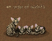 an order of ocelots - limited edition print 4/100