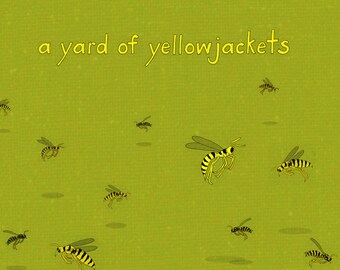 a yard of yellowjackets - limited edition print 2/100