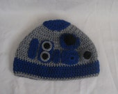 Custom made R2D2 Star Wars hat for adult, child or toddler