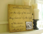 Wood Photo Plaque with Quotes, 12x12 inch, DESIGN YOUR OWN