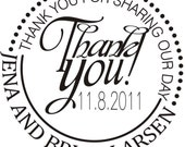 Customized Personalized custom monogram initial thank you rubber stamps --5704