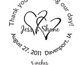 Thank You For Sharing Our Special Day Custom Rubber Stamp for Personalized Wedding Favors