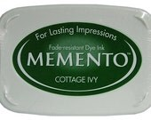 Green Ink pad for rubber stamps Cottage ivy memento stamp pad for rubber stamps --9102