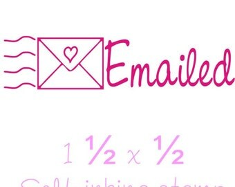 Self Inking Emailed rubber stamp custom business stamps