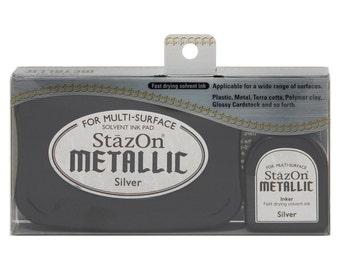 StazOn Metallic ink pad- Silver --9353