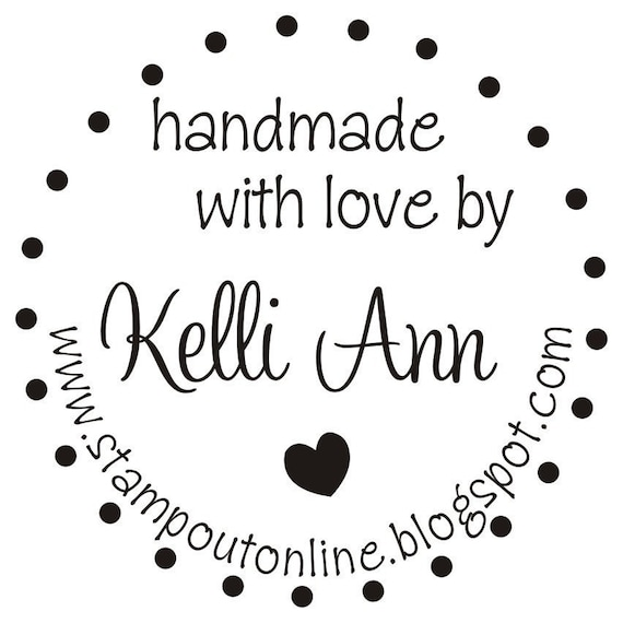 Custom Handmade By Rubber Stamp Personalized Created by Signature logo Stamper