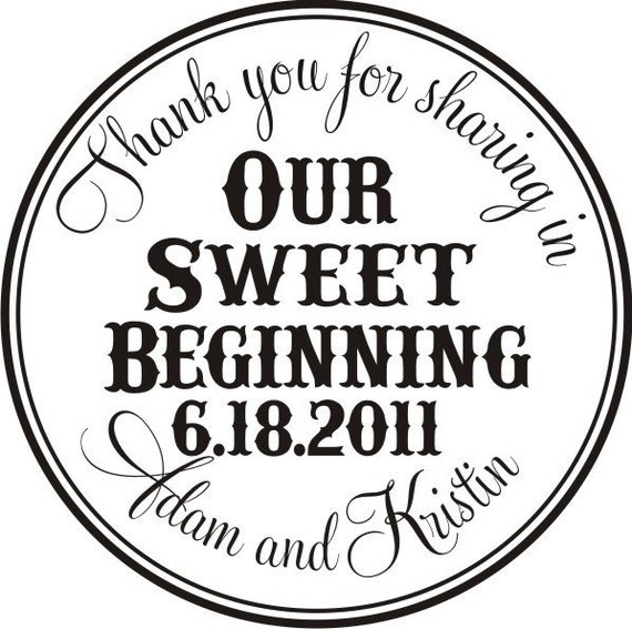 Thank you for sharing in our sweet beginning Self Inking