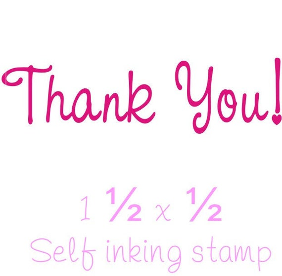 Thank You rubber stamp self inking custom business stamps