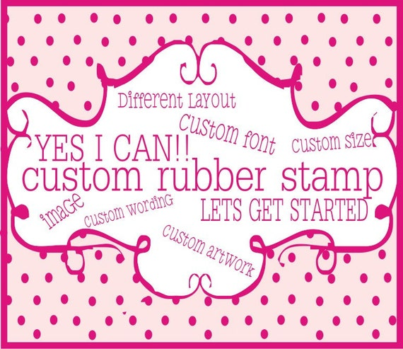 Custom Rubber Stamp --1999