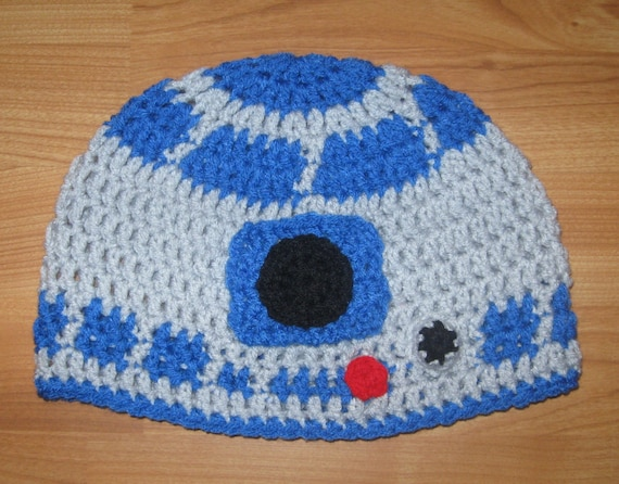R2D2 Beanie - Newborn to Adult Sizes