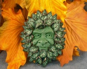 Pagan Green Man Witch Bead Sculpture