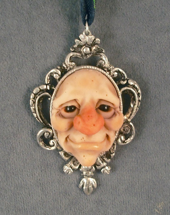 OOAK Pendant Goth Oddfae Sculpture