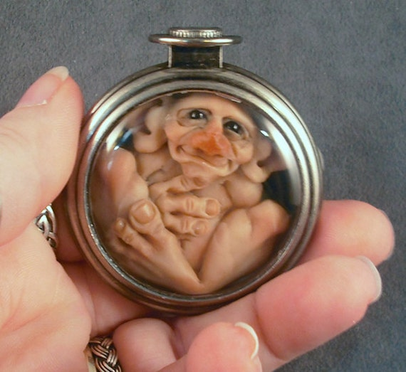 OOaK Pocketwatch Homunculus Oddfae Fairy