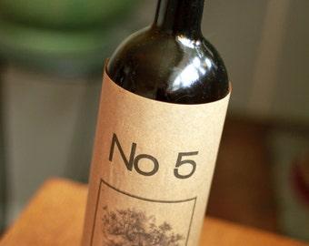 Wine Sleeve Table Number