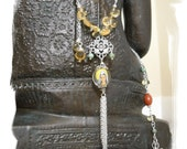 Kwan Yin long beaded necklace
