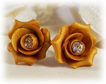 Rosebud Crystal Stud Earrings - Rosebud Crystal Jewelry