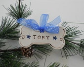 Christmas Ornament for Puppy Dog - Personalized