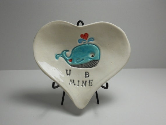 Mini Heart Dish - Valentines Day - Whale you be mine