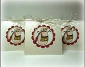 Snowman Gift Tag set of 5