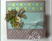 Some Bunny...OOAK Handmade Greeting card for all occasions