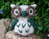 Grey and Pine Green Owl