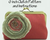 Purse Pattern PDF / Pattern and Instructions / Frame Clutch Pattern / 6 Inch Clutch Purse