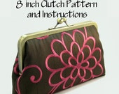 Complete Kit: 8 Inch Clutch Purse Making Pattern and Instructions