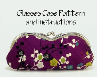 Purse Pattern PDF / Pattern and Instructions / Frame Clutch Pattern / Glasses Case