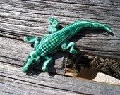 Handmade Ceramic Gator Pendant