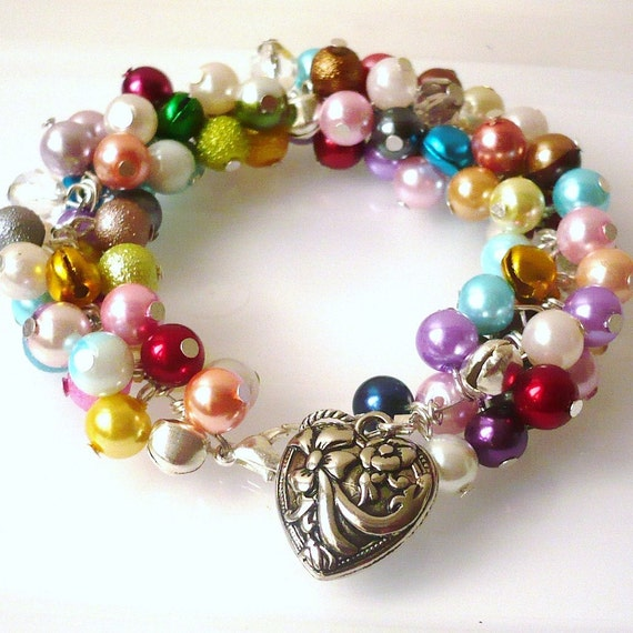 Rainbow Charm Bracelet With Bells