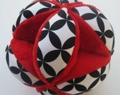 Red, Black and White Diamond Eye Toss 'N Play Ball- Ready to Ship
