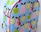 Apples and Pears Backpack-Red Trim
