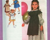 SEWING PATTERN - 1979 - UNCUT - Childs Size 6 - SCHOOL CLOTHES - Pinafore and Dress in 2 Lengths