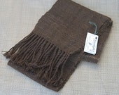Alpaca Scarf with Twisted Fringe