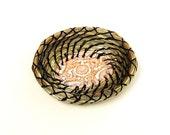 Coiled Basket Bridesmaid Gift Ring Bearer Fragrant Sweetgrass Miniature Ring Dish Basket