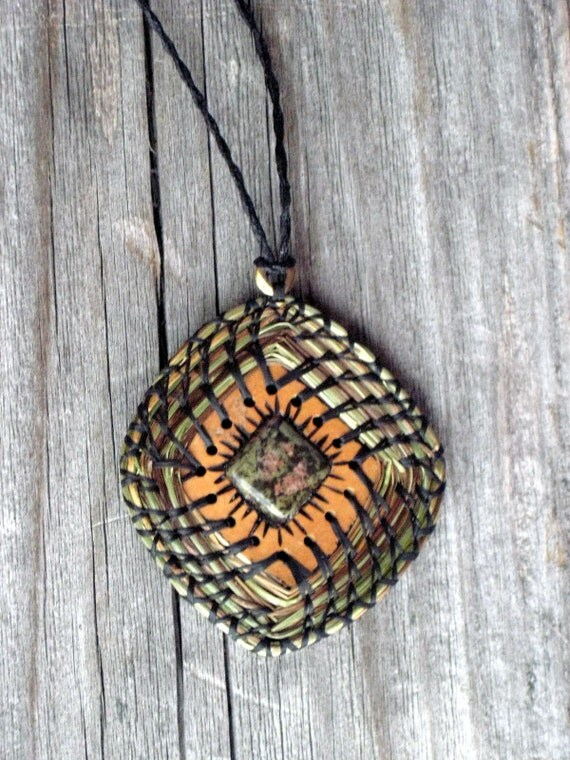 Craft Kit Pendant Sweetgrass Gourd Necklace Tutorial Supplies Do It Yourself DIY
