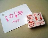 Enjoy Tea Time - MiniSeries Set of 5 Handcarved Stamps