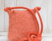 Tangerine Mohair Cross Body Purse