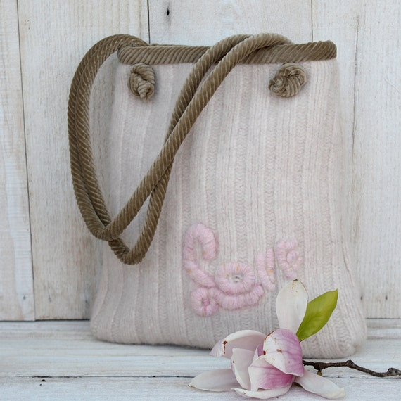 LOVE Recycled Sweater Purse