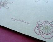 Congratulations Letterpress Card (sage)