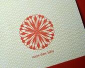 Carpe Diem, Baby - Letterpress Card