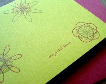 Chartreuse Congratulations Letterpress Card