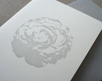 Smoky Rose Letterpress Card