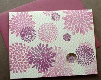 Flowerburst Letterpress Card