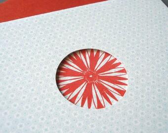 Spiroburst Congratulations Letterpress Card